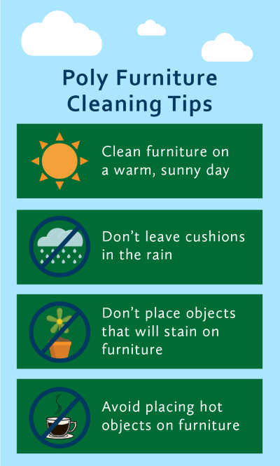 poly furniture cleaning tips