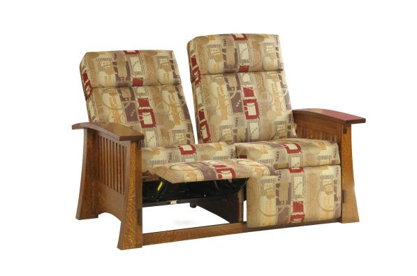Craftsman Love Seat Recliner Reclined