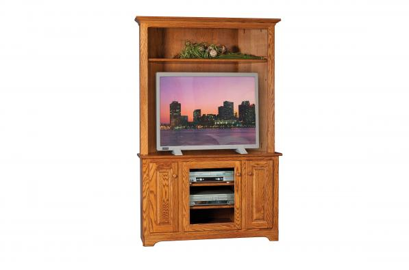 Country Shaker Corner TV Cabinet with Hutch