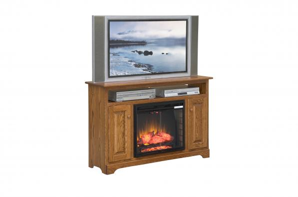 "Country Shaker 52"" TV Stand w/ Fireplace"