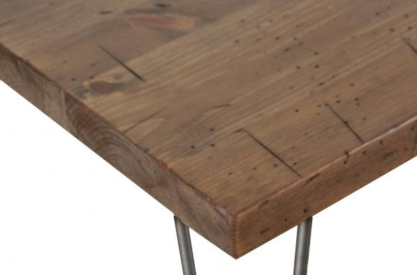 Rustic Pine Chairside Table Detail