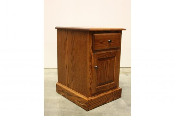Plain Country Small Nightstand with Door