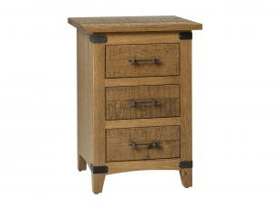 Rural Ridge 3 Drawer Nightstand