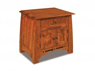 Boulder Creek 1 Drawer 2 Door Nightstand