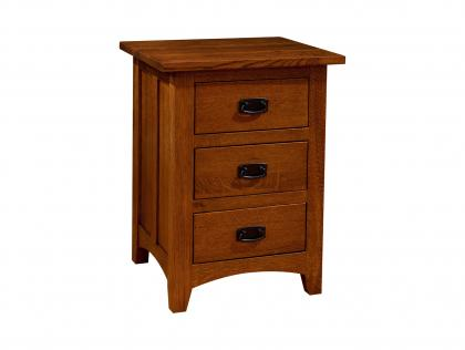 Classic Mission 3 Drawer Nightstand