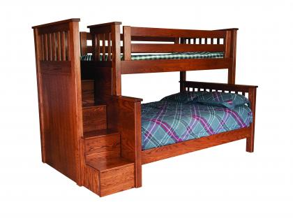 Miller's Mission Twin/Full Bunk Bed with Step Unit