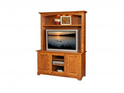 Country Shaker TV Stand with Hutch