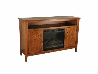 "Shaker TV Stand with 23"" Electric Fireplace"