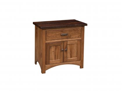 Manhattan 1 Drawer, 1 Door Nightstand