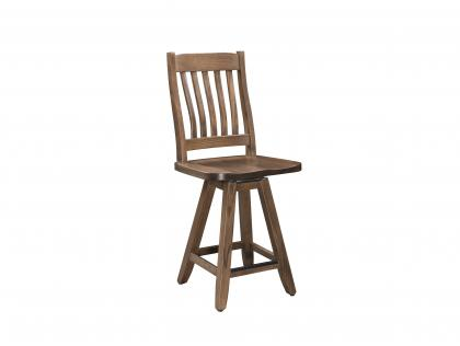 "Elk Mountain 24"" Memory Swivel Barstool"